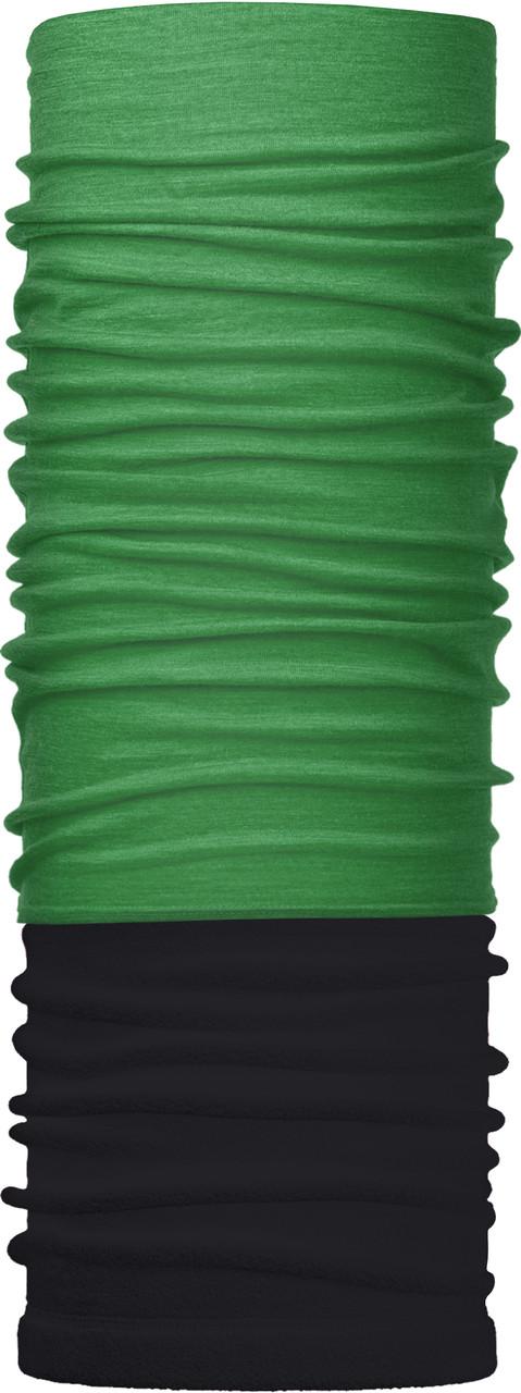 Зимовий бафф Бандана-трансформер Зелений №1 Чорно-зелений (ZBT-060)
