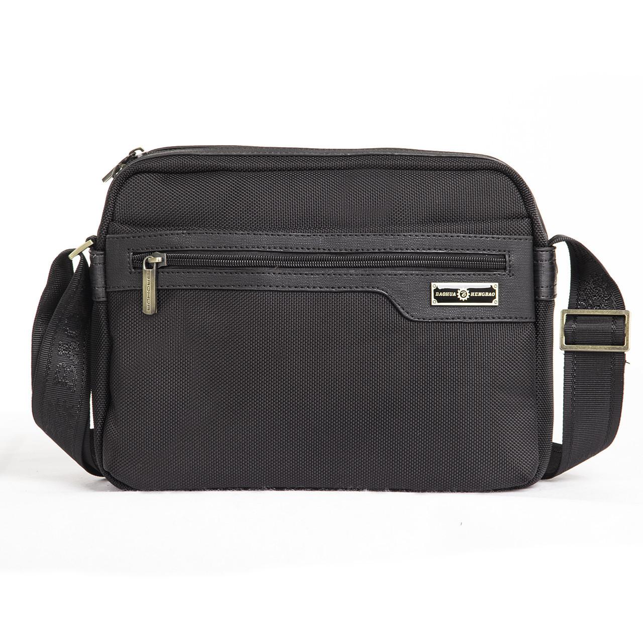 Чоловіча сумка BAOHUA Чорна (ксВН8159-11)