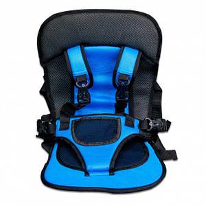 Бескаркасное автокресло Multi Function Car Cushion для детей Голубой (HbP050335)