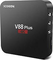Смарт ТВ приставка SCISHION V88 Plus 2 / 16Gb tv box android для телевізора на андроїд, фото 1