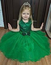 Зеленое пышное платье Весны, платье Цветочка, Ёлочка-Пайетки-Бантик