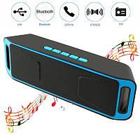 Портативная беспроводная Bluetooth (Блютуз) колонка FM радио флешка стерео