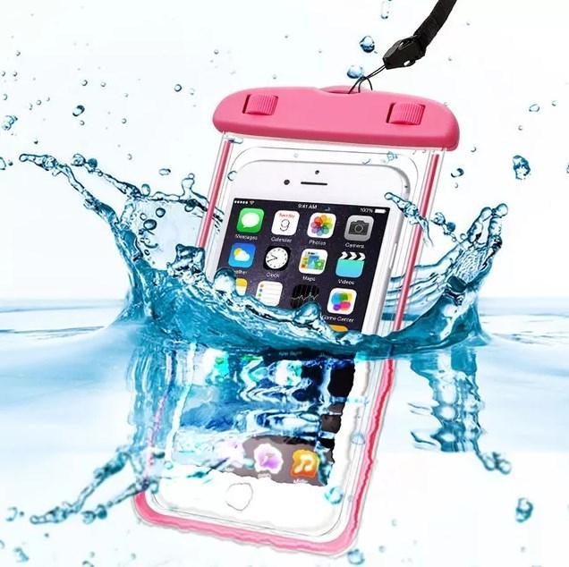 Водонепроникний чохол EasyWay для фото і відео під водою до 6.5 дюймів Рожевий (HbP050345)