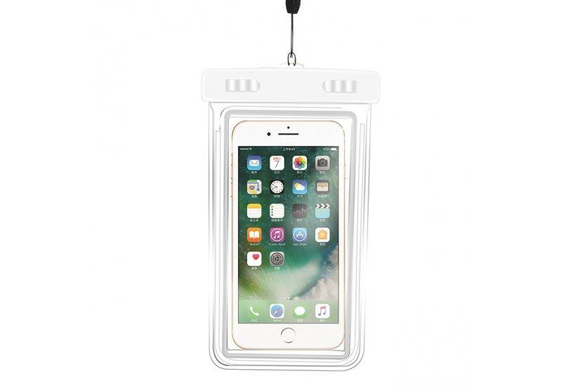 Водонепроницаемый универсальный чехол EasyWay для мобильного телефона до 6.5 дюймов Белый (HbP050350)