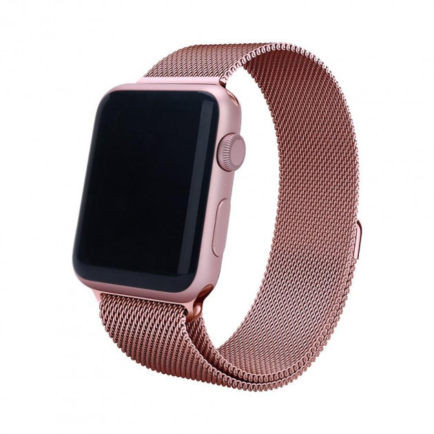 Металлический ремешок Milanese для Apple Watch 38/40/42/44 мм Rose Gold (HbP050596)