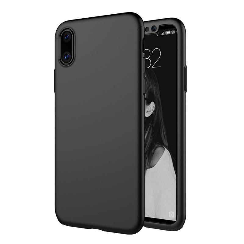 Чехол MakeF + стекло на iPhone XS MAX Black (HbP050411)