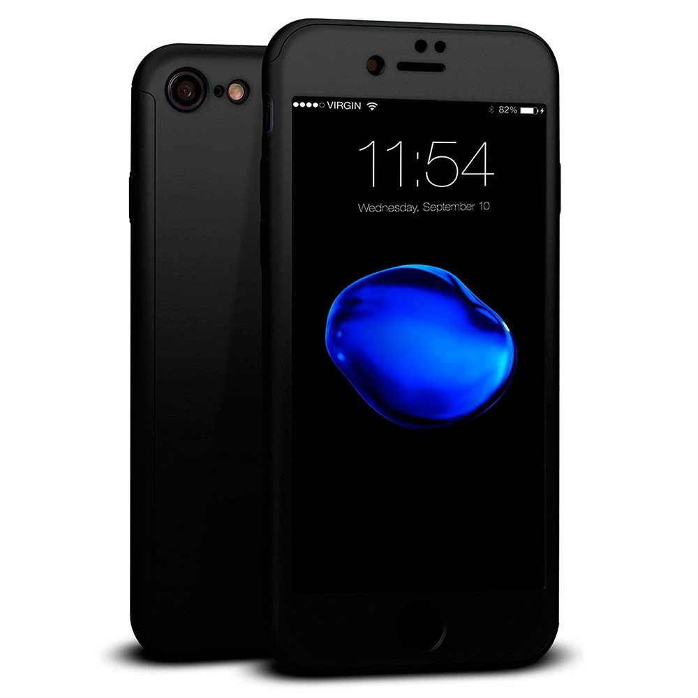 Чохол MakeF + скло на iPhone 7 plus/8 plus Black (HbP050409)