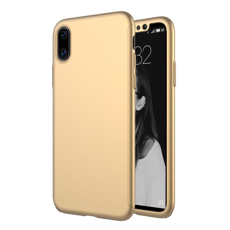 Чохол MakeF + скло на iPhone XS MAX Gold (HbP050441)