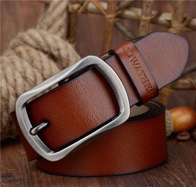 Кожаный ремень COWATHER 120 см Коричневый (HbP050484)