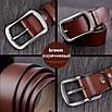 Кожаный ремень COWATHER 120 см Коричневый (HbP050484), фото 4