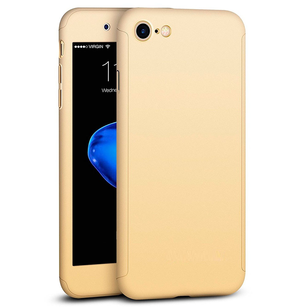 Чехол MakeF + стекло для iPhone 6 plus/6s plus Gold (HbP050436)