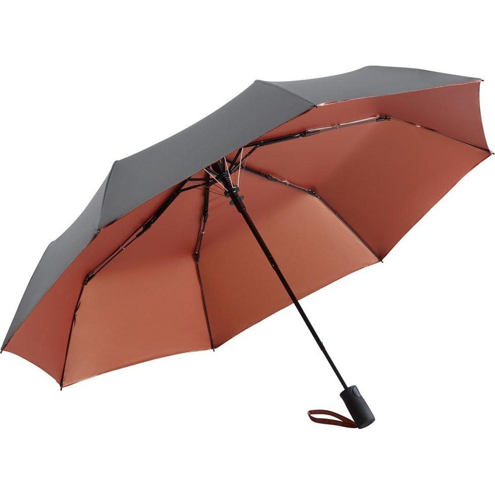 Зонт складной Fare 5529 Серо-бордовый (1143)