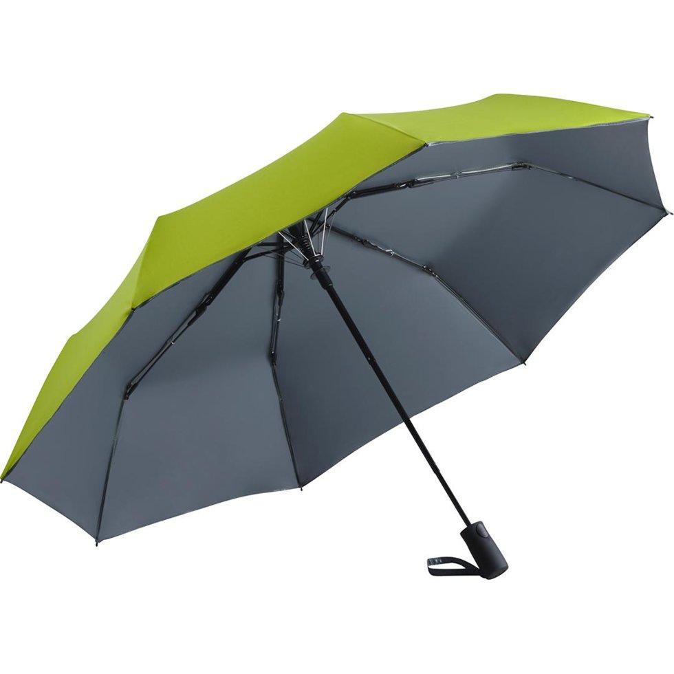 Зонт складной Fare 5529 Лайм с серым (1144)