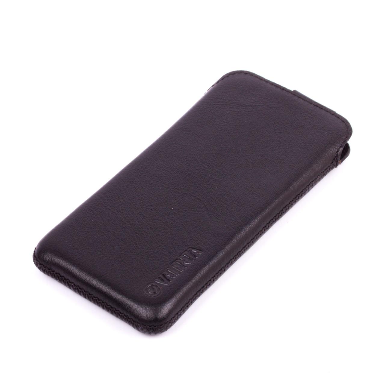 Кожаный чехол-карман Valenta для iPhone 6/6S Черный (1193ip6h)