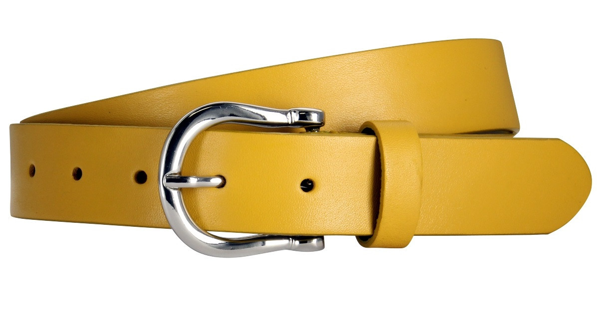 Ремень женский Lindenmann The art of belt 40220 Желтый (1194)
