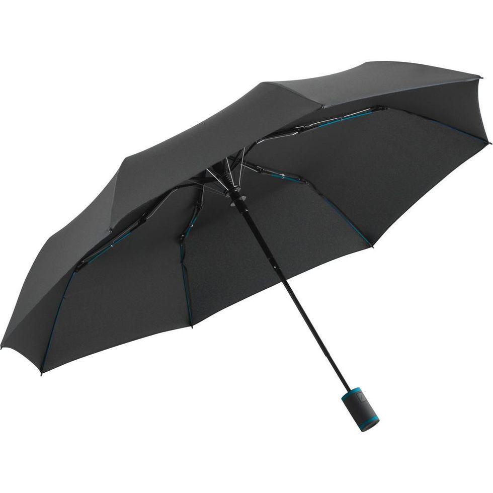 Зонт складаний Fare 5583 Антрацит з бірюзовим (1058)