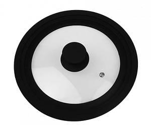 Крышка с силиконовым ободком Supretto Прозрачный с черным (56160011)