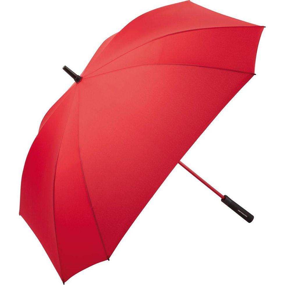 Зонт-трость Fare 2393 з великим куполом квадратний Червоний (838)