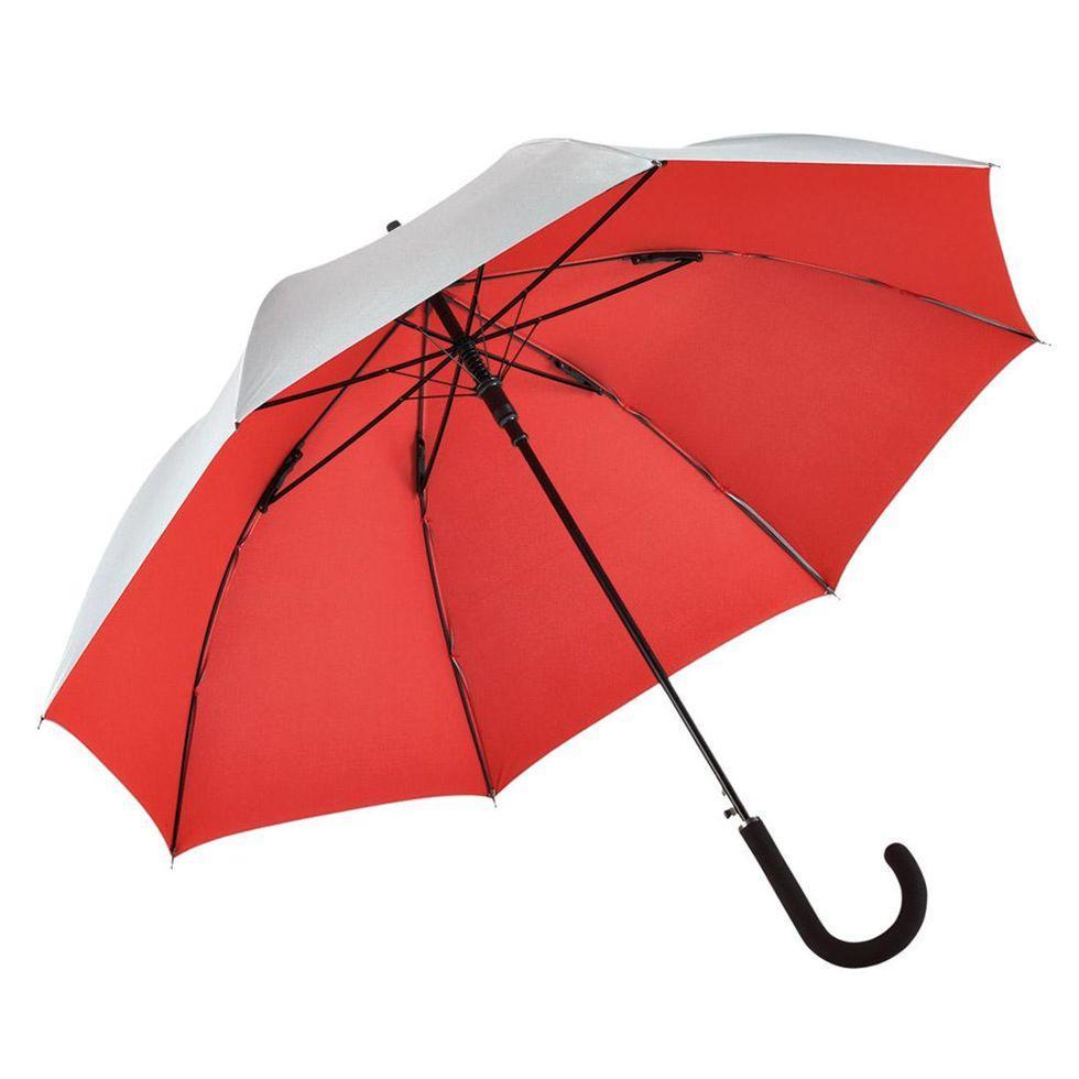 Зонт-трость Fare 7119 Серебристо-красный (316)