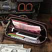 Мужской кожаный клатч GMD 8024C Коричневый (8024C), фото 9