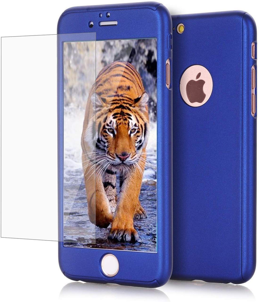 Чохол Full із захисним склом для Iphone 7/8 Blue (HbP661311)