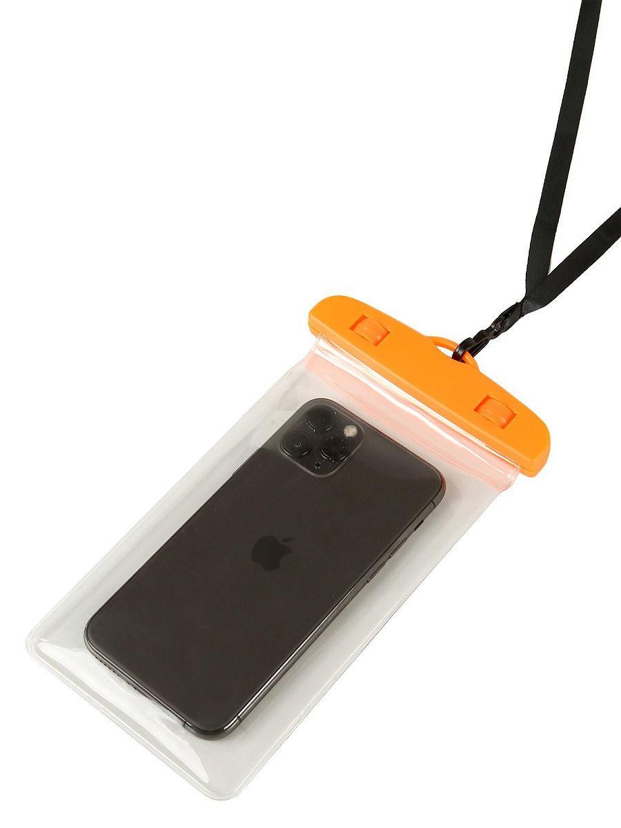 Водонепроницаемый чехол-пакет Tenkraft  для телефона для фото и видео под водой Оранжевый (10239136)