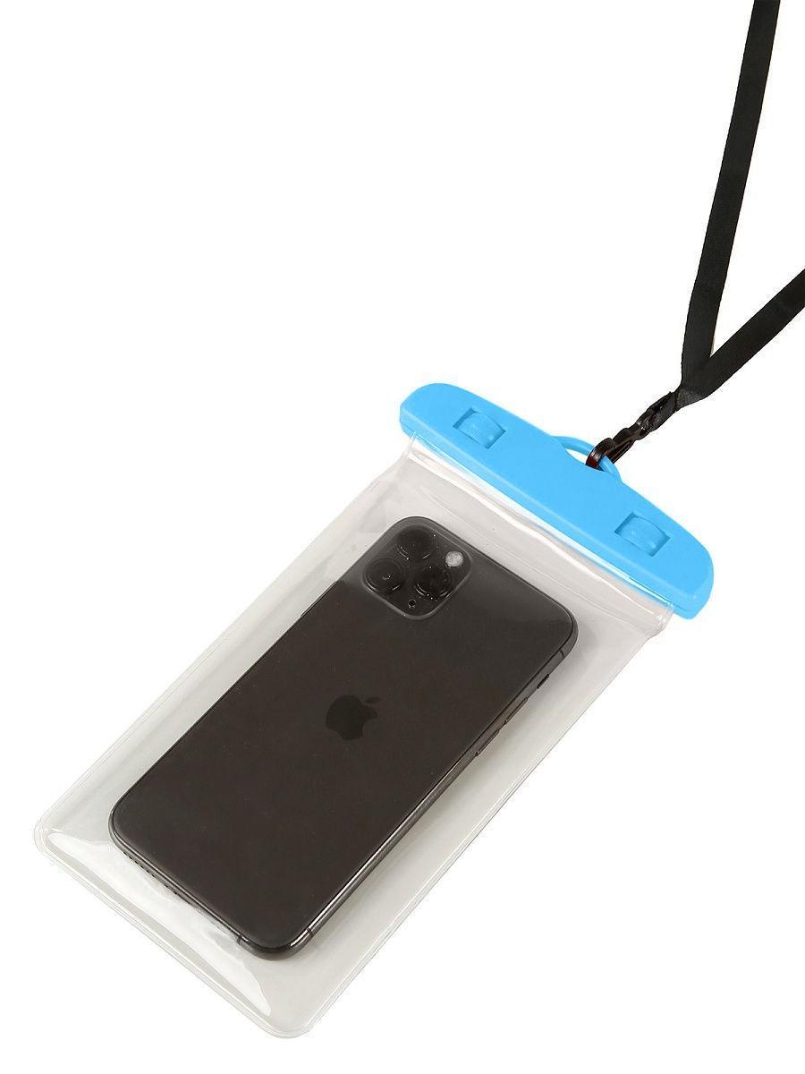 Водонепроницаемый чехол-пакет Tenkraft  для телефона для фото и видео под водой Синий (102391321)