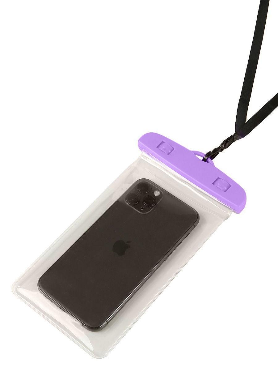 Водонепроницаемый чехол-пакет Tenkraft  для телефона для фото и видео под водой Фиолетовый (10239135)