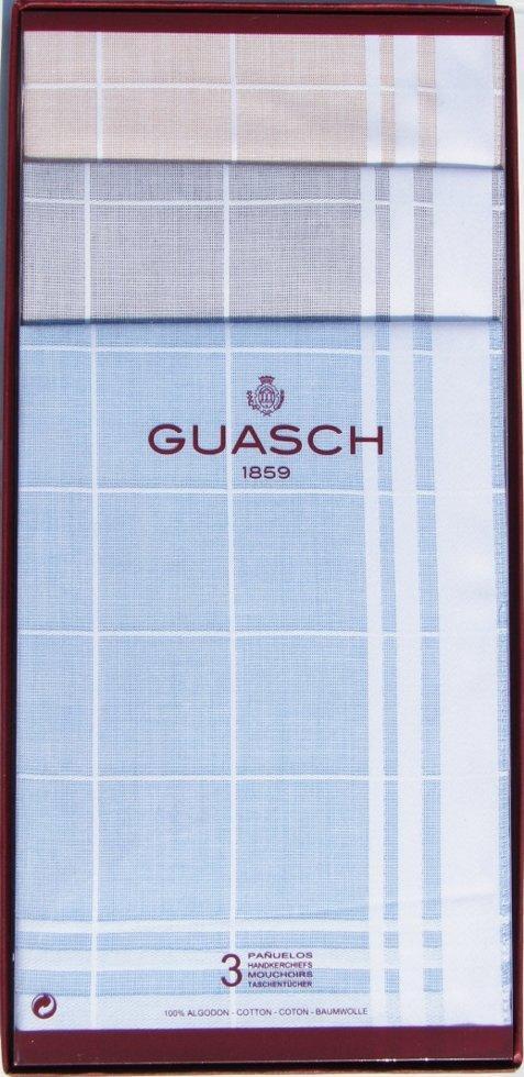 Комплект чоловічих носових хусток Guasch 104.95 D. 20 (986)