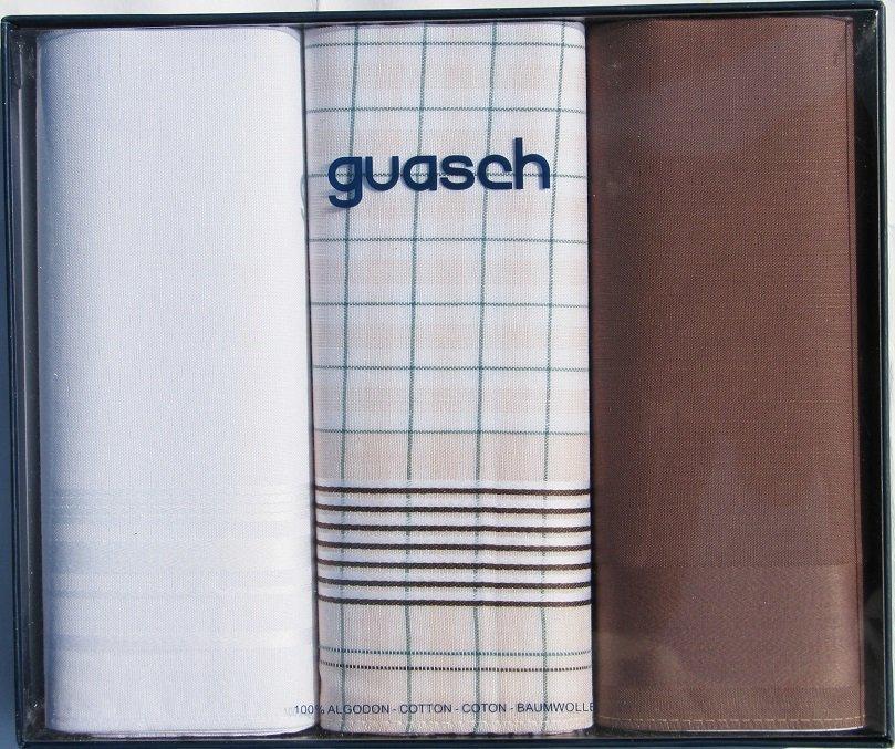 Комплект чоловічих носових хусток Guasch Sena 90-04 (1089)