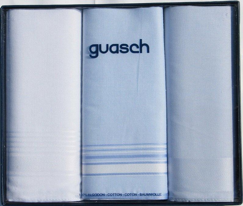 Комплект чоловічих носових хусток Guasch Sena 90-06 (1101)