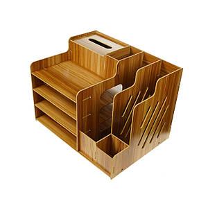 Органайзер Sky канцелярский деревянный настольный (5790)