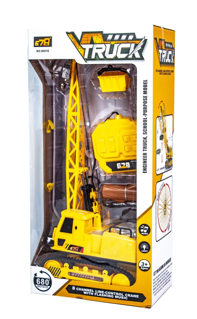 Кран на радіокеруванні Жовтий (8051E)
