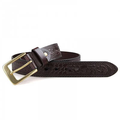 Мужской кожаный ремень 110-135 см GMD Шоколад (B001Q-1)