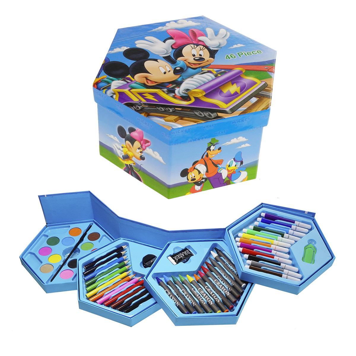 Набір для малювання в розкладний коробочці Міккі Маус, 46 предметів (5824)