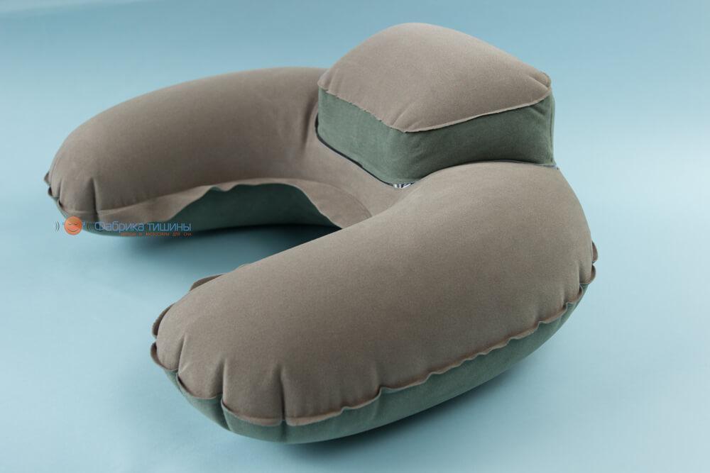 Подушка для путешествий Inflex надувная с подголовником Серый (954-02gry)
