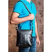 Чоловічий месенджер Tiding Bag Чорний (M6969-1A), фото 3