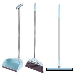 Набор для уборки 3 в 1 (комплект швабра, щетка, совок с длинной ручкой) (5823)