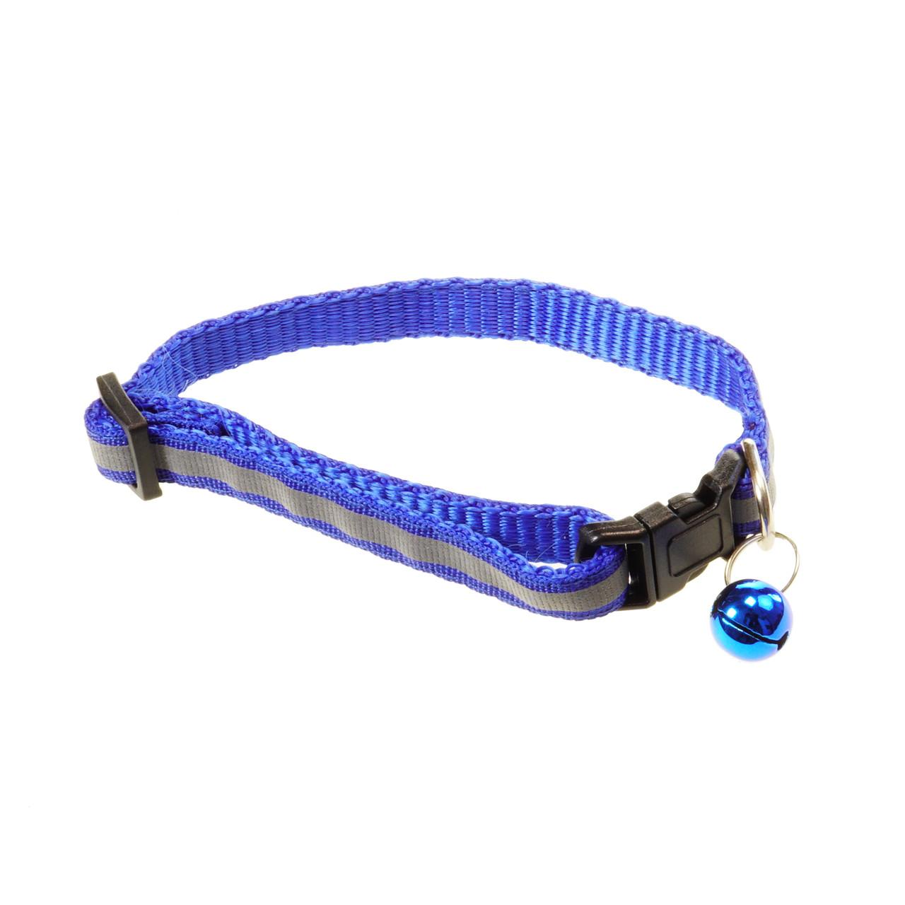 Светоотражающий ошейник Supretto 20-32 см Синий (57550002)