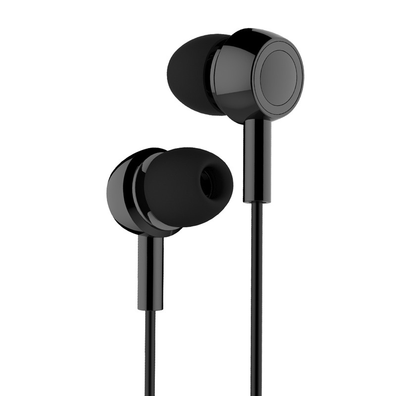 Наушники Usams In-Ear Stereo проводные 3,5 мм Черные (EP-12-BL)