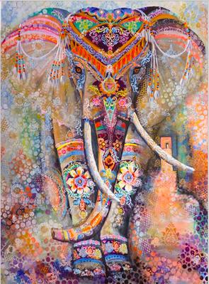 Картина алмазами Даймонт Сказочный слон (0126)