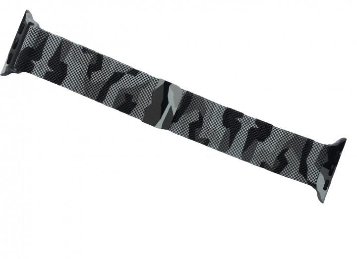Металевий ремінець Milanese для Apple Watch 40-42 мм Military Gray (HbP050591)