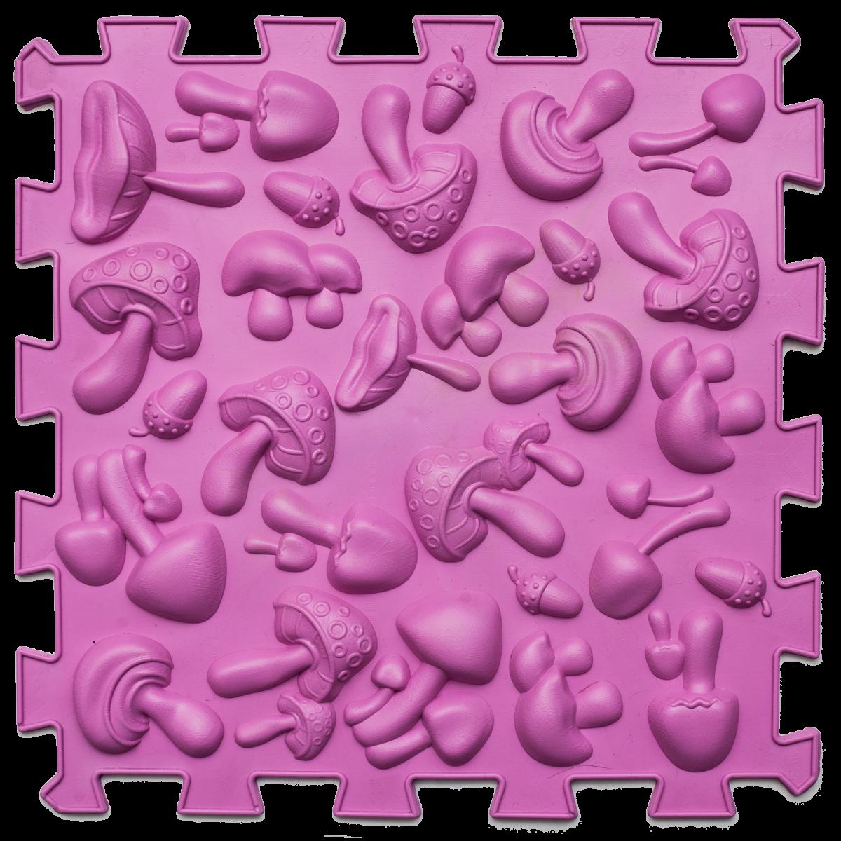 Дитячий масажний килимок пазл для стоп Ортек Грибочки Рожевий (kj2120)