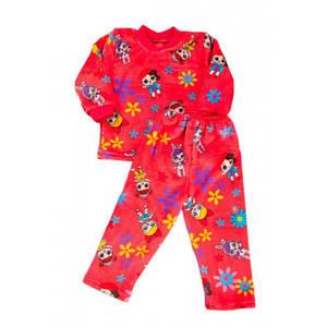 Теплая детская пижама для девочек Kika Toys LOL 98 см Розовая (kj3020-2)