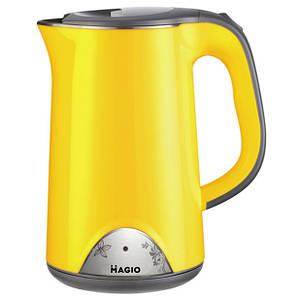 Электрочайник-термос MAGIO 515N-MG 1,7л, желтый