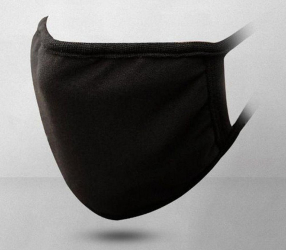 Захисна маска MSD 2 штуки багаторазові двошарові Чорний (5828)