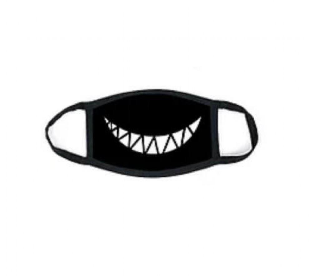 Захисна маска MSD Посмішка двошарова багаторазова Чорний (5820)