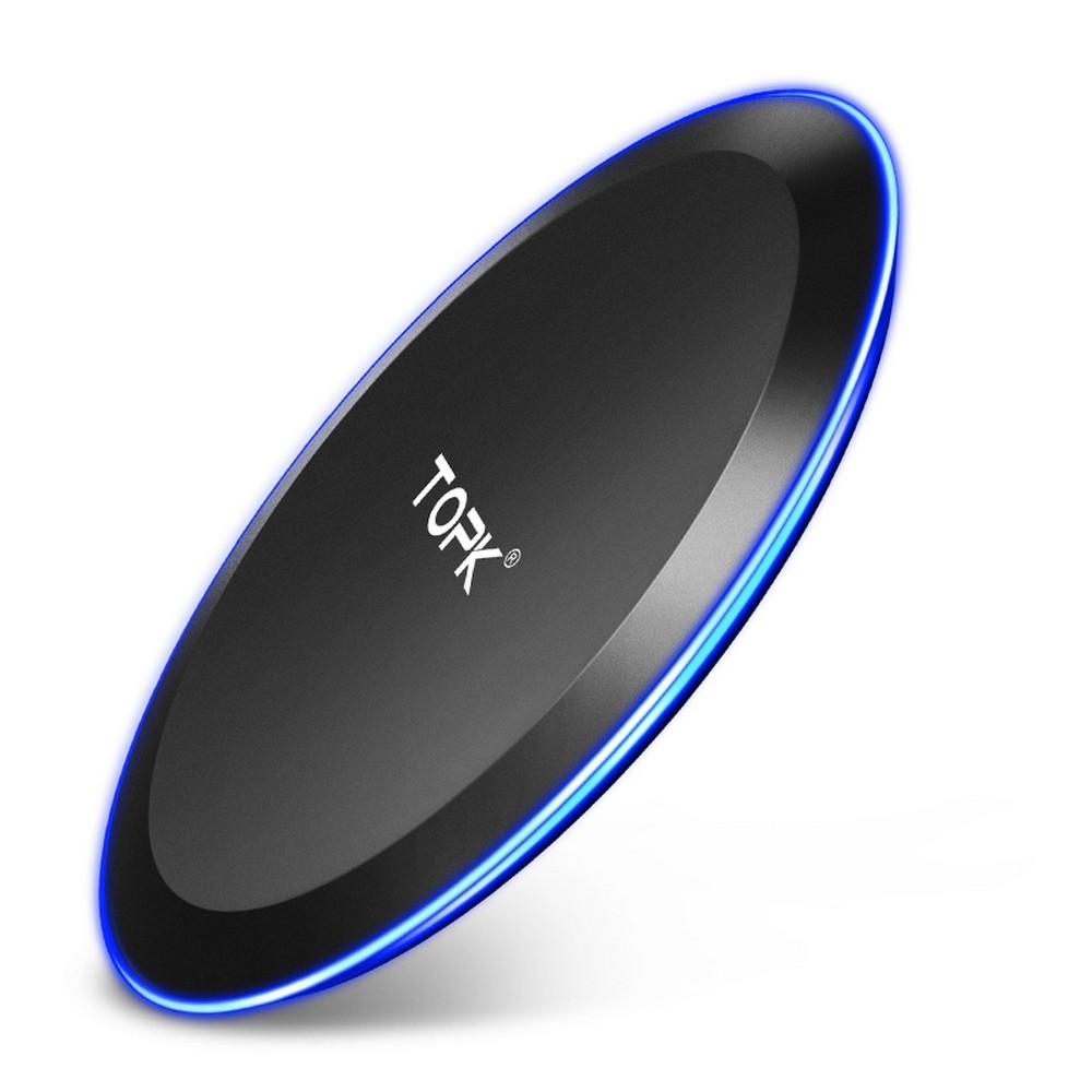 Бездротове зарядний пристрій Topk 10W QI Quick Charge Black (TK46W-BL)