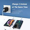Мережевий зарядний пристрій Topk Qualcomm Quick Charge 3.0 28W 2xUSB Black (TK254Q-BL), фото 2