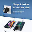 Сетевое зарядное устройство Topk Qualcomm Quick Charge 3.0 28W 2xUSB Black (TK254Q-BL), фото 2